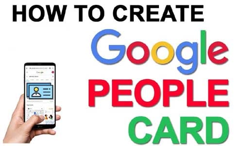 How To Create People Card On Google |  Virtual Visiting Card